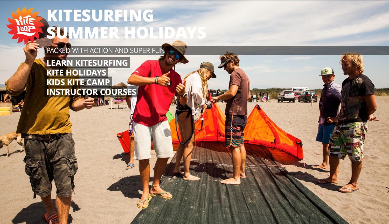 Kitesurfing summer holidays | Kiteloop @ Ada Bojana